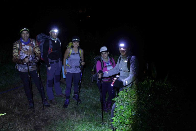 Hikers setting out to Cerro Ena